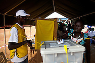 Voters at the Garang Mausoleum for the first day of voting for Southern Sudan's referendum for separation on Jan. 9. 2011 in Juba.