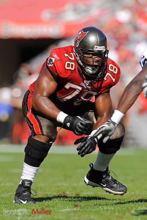 Tampa, Fl: Dec 28, 2008 -- Tampa Bay Buccaneers defensive tackle Arron Sears (78) during the Bucs game against the Oakland Raiders at Raymond James Stadium....©2008 Scott A. Miller