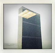 United Nations building, New York..From the series Fake Polaroids. ...photo © Stefan Falke....