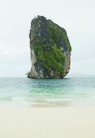 Large limestone rock formation in Southern Thailand near Railay Peninsula Andaman Sea just off Poda Island&amp;#xA;<br />