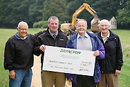 Branston Abernethy cheque pesentation to Newburgh Community Trust. L-R Maurice Taylor, Kevin Imrie, Andrew Arbuckle & Bob Batchelor.