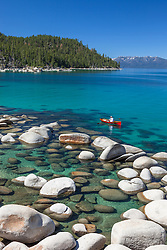 """Canoe on Lake Tahoe"" - The canoe was photographed on the East shore of Lake Tahoe."