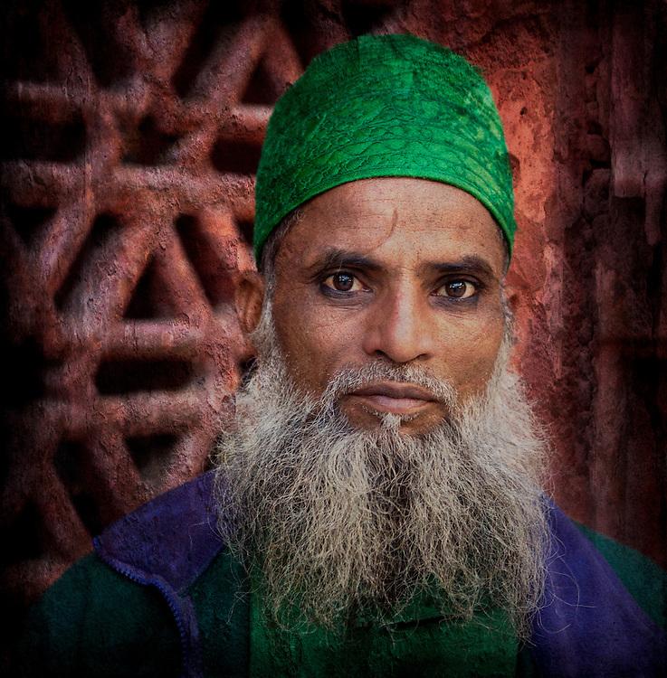 in Sufi temple in New Dehli, India