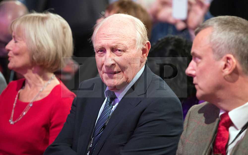 © Licensed to London News Pictures. 23/09/2014. Manchester, UK. Neil Kinnock.  Leader of the Labour Party Ed Miliband gives his leaders speech at the Labour Party Conference 2014 at the Manchester Convention Centre today 23 September 2014. Photo credit : Stephen Simpson/LNP