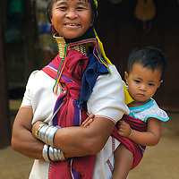 Longneck Karen People, Village, Baan Mai Naisoi, Burmese Refugee Camp, Thailand