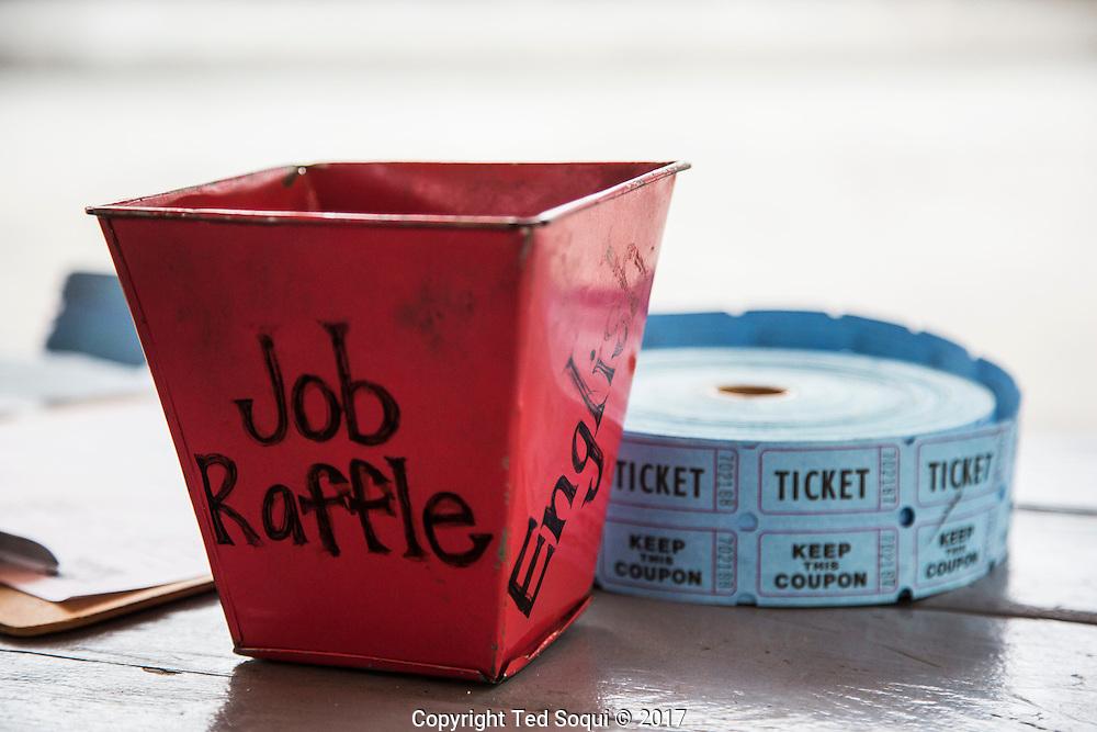 Hollywood Community Job Center.<br /> Job raffle bucket and tickets.
