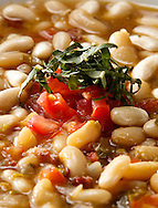 White bean soup - close up view.