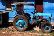Tractor in San Antonio de los Banos, Artemisa, Cuba.