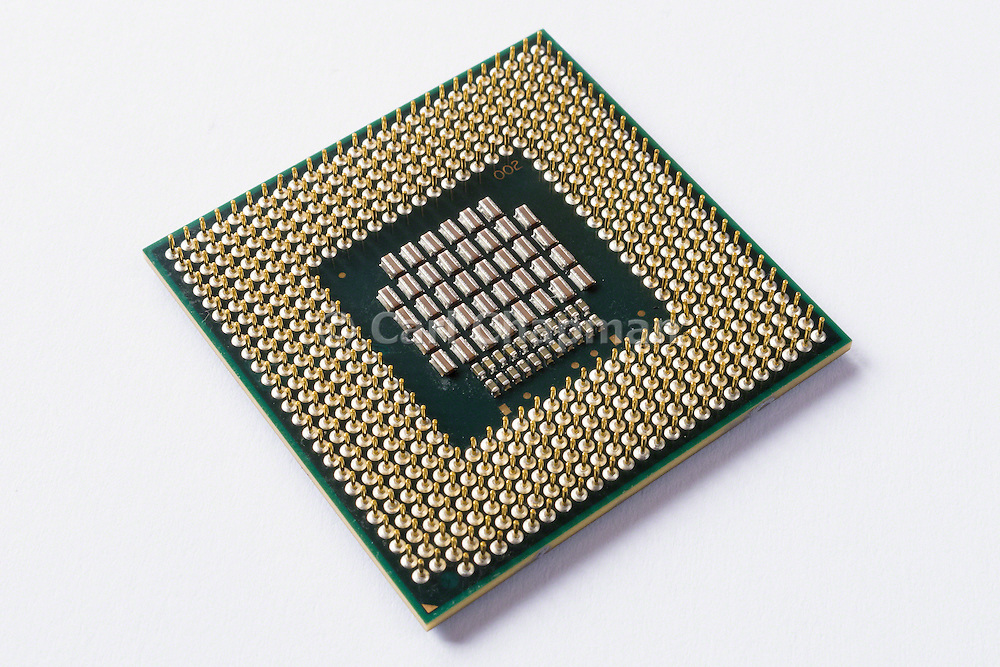 Intel core duo computer microprocessor