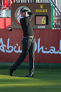 19.01.2013 Abu Dhabi, United Arab Emirates.  Gregory Bourdy in action during the European Tour HSBC Golf championship  third round from the Abu Dhabi Golf Club.