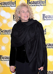 Carole King attends Beautiful - The Carole King Musical at The Aldwych Theatre, The Aldwych, London on Tuesday 24 February 2015 February 2015