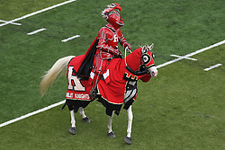 Sept 8, 2012; Piscataway, NJ, USA; The Rutgers Scarlet Knight during the first half of their game against the Howard Bison at High Point Solutions Stadium.