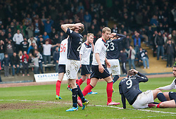 Dundee's Beatie misses a first half chance.<br /> Dundee 0 v 1 Falkirk, Scottish Championship game played today at Dundee's Dens Park.<br /> &copy; Michael Schofield.