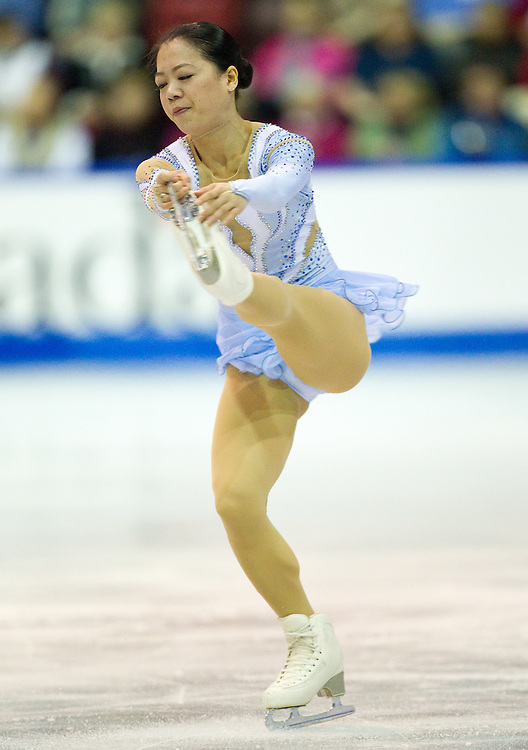 GJR395 -20111029- Mississauga, Ontario,Canada-  Akiko Suzuki of Japan skates her free skate at Skate Canada International, in Mississauga, Ontario, October 29, 2011.<br /> AFP PHOTO/Geoff Robins