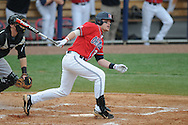 Ole Miss' Matt Snyder (33) drives in a run with a groundout to first vs. Lipscomb at Oxford-University Stadium in Oxford, Miss. on Sunday, March 13, 2011. Ole Miss won 5-1 to sweep the series and improve to 13-4.