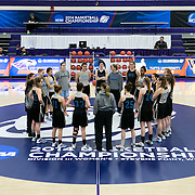 03/21/2014- Stevens Point, Wisc. - The Tufts women's basketball team meets wraps up their final morning practice before their NCAA Division III Women's Final Four game against FDU-Florham at Quandt Fieldhouse on Mar. 21, 2014. (Kelvin Ma/Tufts University)