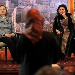 Secretary of State Hillary Rodham Clinton is seen in Sana'a, Yemen on Jan. 11, 2011.