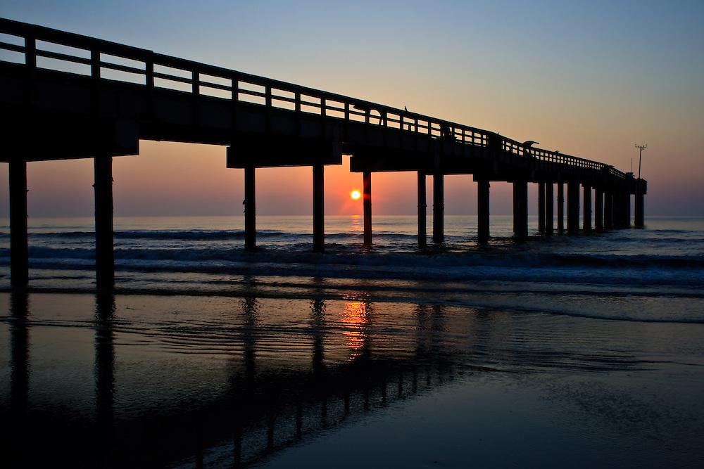 Fishing pier at sunrise st augustine beach fl for St augustine fishing pier