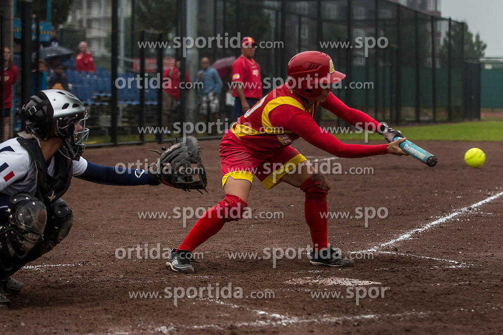 France vs Spain during XIX European Softball Fastpitch  Championship Women, on July 20, 2015 in Rosmalen,  Netherlands. Photo by Grega Valancic / Sportida