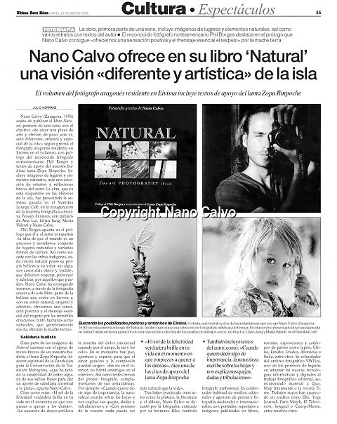 Interior - Ultima Hora<br /> &quot;Natural&quot; Book launching
