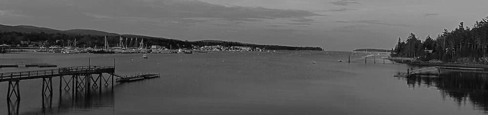 B&amp;W Maine panorama photography of Southwest Harbor, nestled into the granite seacoast away from the Atlantic Ocean on Mount Desert Island. This harbor as part of small coastal villages along the coastal areas of MDI is quintessential Maine. <br /> This classic New England harbor photography image is available as museum quality photography prints, canvas prints, acrylic prints or metal prints. Fine art prints may be framed and matted to the individual liking and decorating needs:<br /> <br /> http://juergen-roth.pixels.com/featured/mount-desert-island-black-and-white-panorama-juergen-roth.html<br /> <br /> Good light and happy photo making! <br /> <br /> My best, <br /> <br /> Juergen<br /> Website: www.RothGalleries.com<br /> Twitter: @NatureFineArt<br /> Facebook: https://www.facebook.com/naturefineart<br /> Instagram: https://www.instagram.com/rothgalleries<br /> Photo Blog: http://whereintheworldisjuergen.blogspot.com
