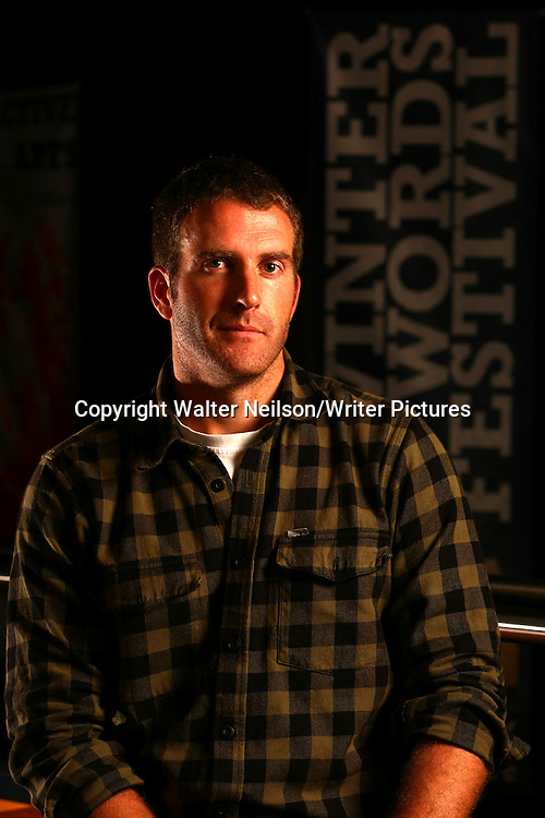 Guy Grieve photographed at the Winter Words Festival in Pitlochry.<br /> <br /> Copyright Walter Neilson/Writer Pictures<br /> contact +44 (0)20 8241 0039<br /> sales@writerpictures.com<br /> www.writerpictures.com