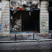 Athens city centre after the riots of the 12th February 2012