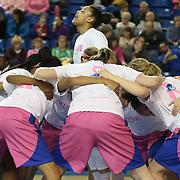 NCAAW BASKETBALL 2014 - Feb 16 - Delaware defeats Towson University 52-43