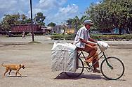 Bicycle delivery in Jesus Menendez, Las Tunas, Cuba.