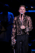 Singer Sting performs during the Rainforest Foundation's benefit concert at Carnegie Hall in New York May 19, 2006. Photo by Keith Bedford