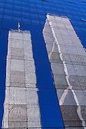 NYC, NY, Twin Tower Reflection, World Trade Center, designed by Minoru Yamasaki, International Style II