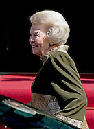 AMSTERDAM - Arrival of Princess Beatrix Celebration party for King Willem alexander at the Dam Palace in Amsterdam COPYRIGHT ROBIN UTRECHT