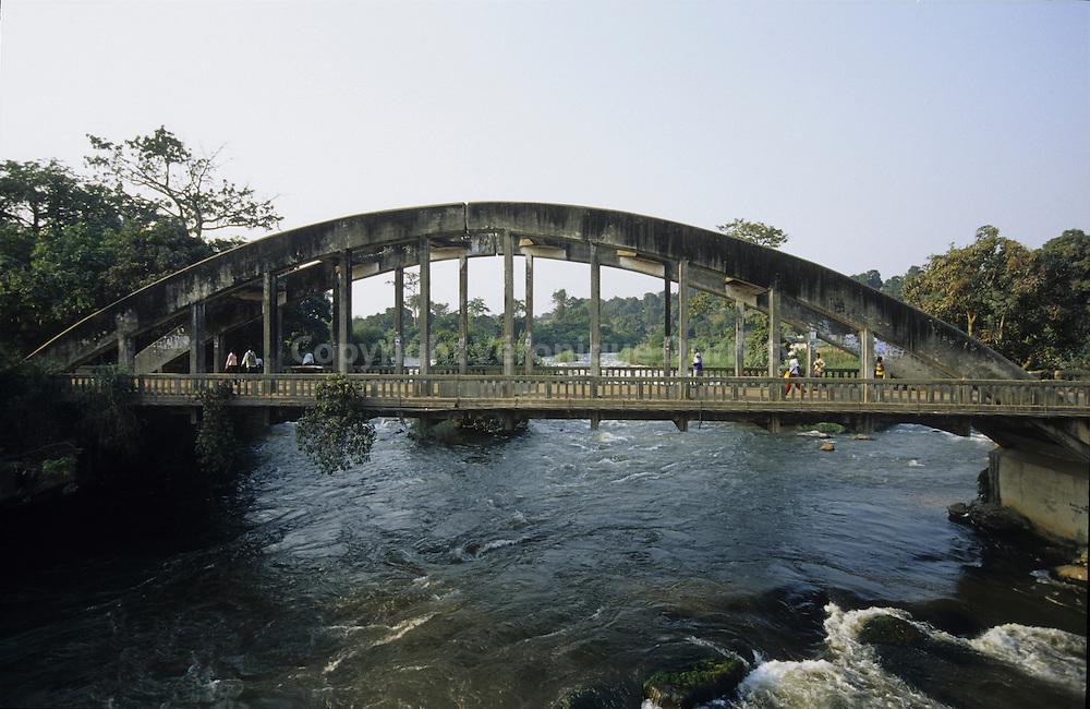 CONCRETE BRIDGE NEAR BRAZZAVILLECONGO