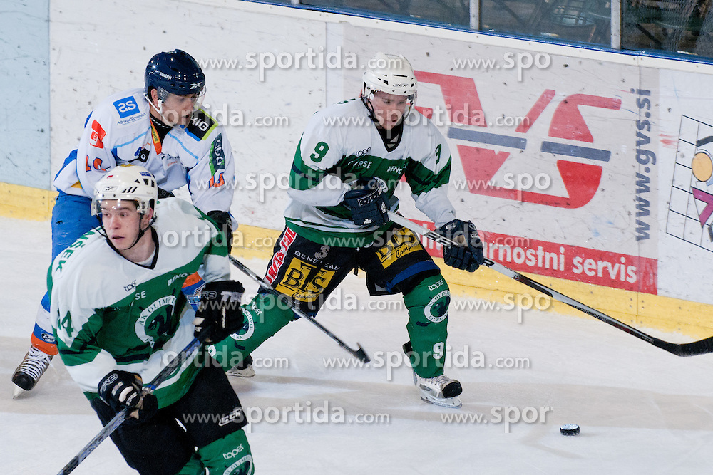 during ice-hockey match between HK Olimpija and HK Triglav in third match for Third place at Slovenian National League, on April 6, 2011 at Hala Tivoli, Ljubljana, Slovenia. (Photo By Matic Klansek Velej / Sportida.com)