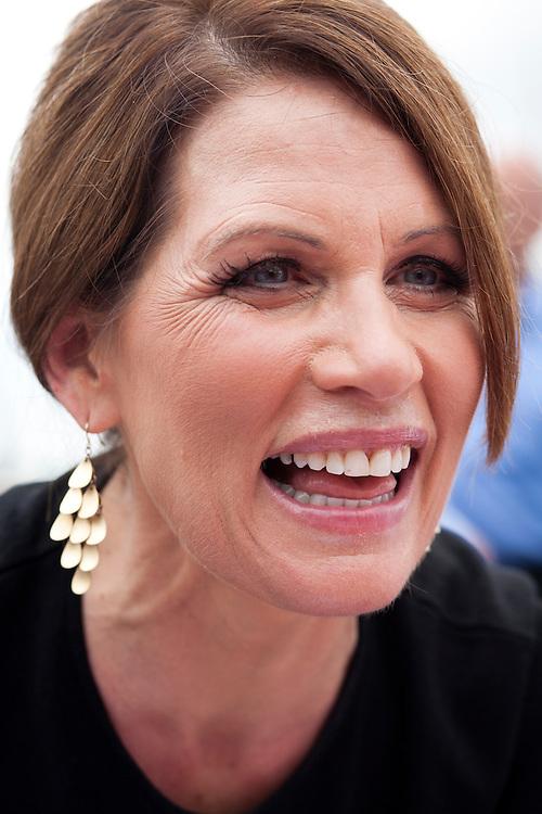Republican presidential hopeful Michele Bachmann campaigns on Saturday, August 6, 2011 in Cedar Rapids, IA.