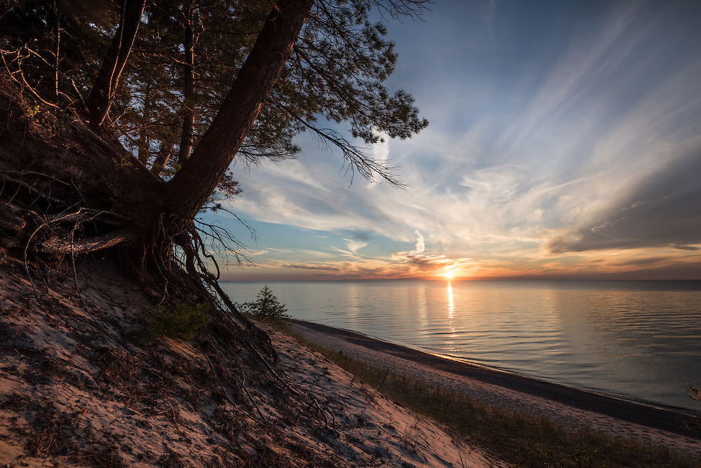 A summer sunset near Twelve Mile Beach - Pictured Rocks National Lakeshore