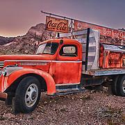 Coca Cola Bottling Co Flatbed Chevrolet Truck -  Dusk - Eldorado Canyon - Nelson NV - HDR