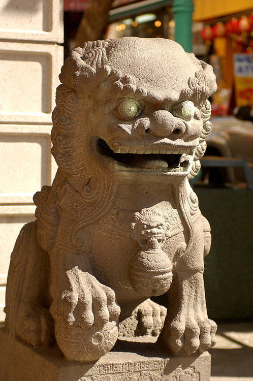 Dragon at Chinatown Gate, San Francisco, California, United States of America
