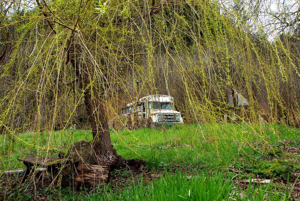 Bus Through Willow Alpha Farm Deadwood Oregon