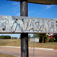 Route 66, Washita Hotel. Cantute, Oklahoma..A September 2011 Route 66 trip, section 2,  from Joplin, Missouri to San Jon, New Mexico.