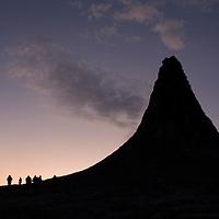 Africa, Tanzania, Lake Natron, Ol Doinyo Lengai Volcano at dawn