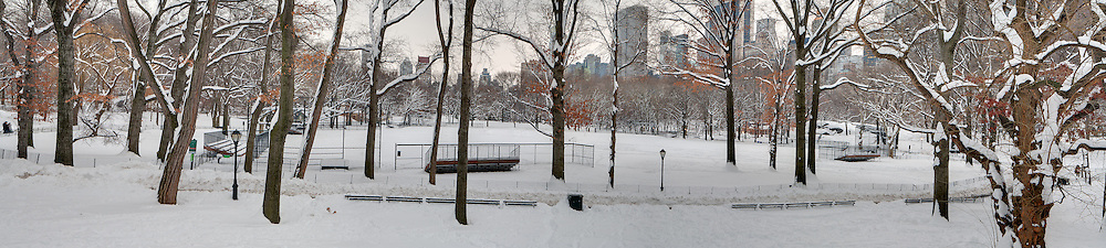 The Softball fields after the second winter storm of 2011.