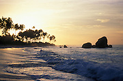 Dawn over the beach just south of Galle, southern coast of the island.