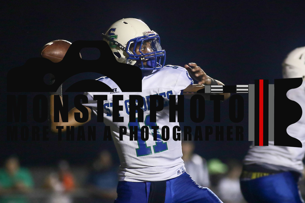 St. Georges quarterback ROBERT SHORTS (11) attempts a pass in the second quarter of a week one DIAA game between  William Penn and St. Georges, Friday, Sept. 09, 2016 at CARAVEL Academy in Bear, DE.
