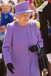 © Licensed to London News Pictures. 17/05/2013. Marazion, UK. Queen Elizabeth II visits St Michael's Mount. Photo credit : Ashley Hugo/LNP