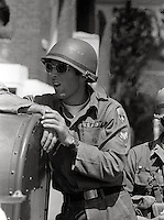 US National guard take over town  People's Park Student protest & riots in Berkeley California 1969