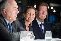 29 MAR 2017, BERLIN/GERMANY:<br /> Dr. Stormy-Annika Mildner (M), B23 Sherpa und Leiterin der Abteilung Au&szlig;enwirtschaftspolitik im Bundesverband der Deutschen Industrie, BDI, Veranstaltung des Wirtschaftsforums der SPD und der Business 20, B20: &quot;Global Governance in Zeiten der Globalisierungsskepsis - Impulse aus der G20-Wirtschaft&quot;, Quartier Zukunft der Deutschen Bank<br /> IMAGE: 20170329-02-159