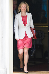 Downing Street, London, June 9th 2015. Elizabeth Truss, Secretary of State for Environment, Food and Rural Affairs  leaves 10 Downing Street following the weekly meeting of the Cabinet.