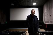 Carlos Sarabia, movie critic, Cecut, Cineteca, Tijuana, Mexico...© Stefan Falke.http://www.stefanfalke.com/..