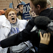 'Occupy' protesters disrupt Rep. Ron Paul (R-TX) during a 'Salute to Veterans Rally' at the Iowa State Fairgrounds  Wednesday, December 28, 2011, in Des Moines, IA...Photo by Khue Bui